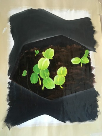 seedlings (oil paint)